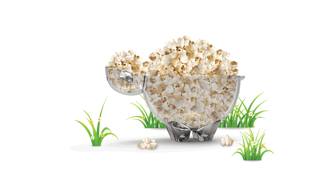 Sheep Shaped Popcorn Bowl