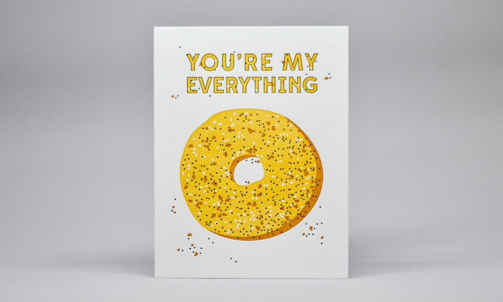 Everything Bagel Greeting Card