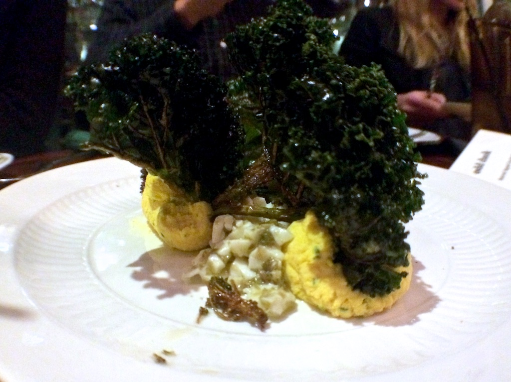 Odd Duckdeviled eggs and fried brassicas
