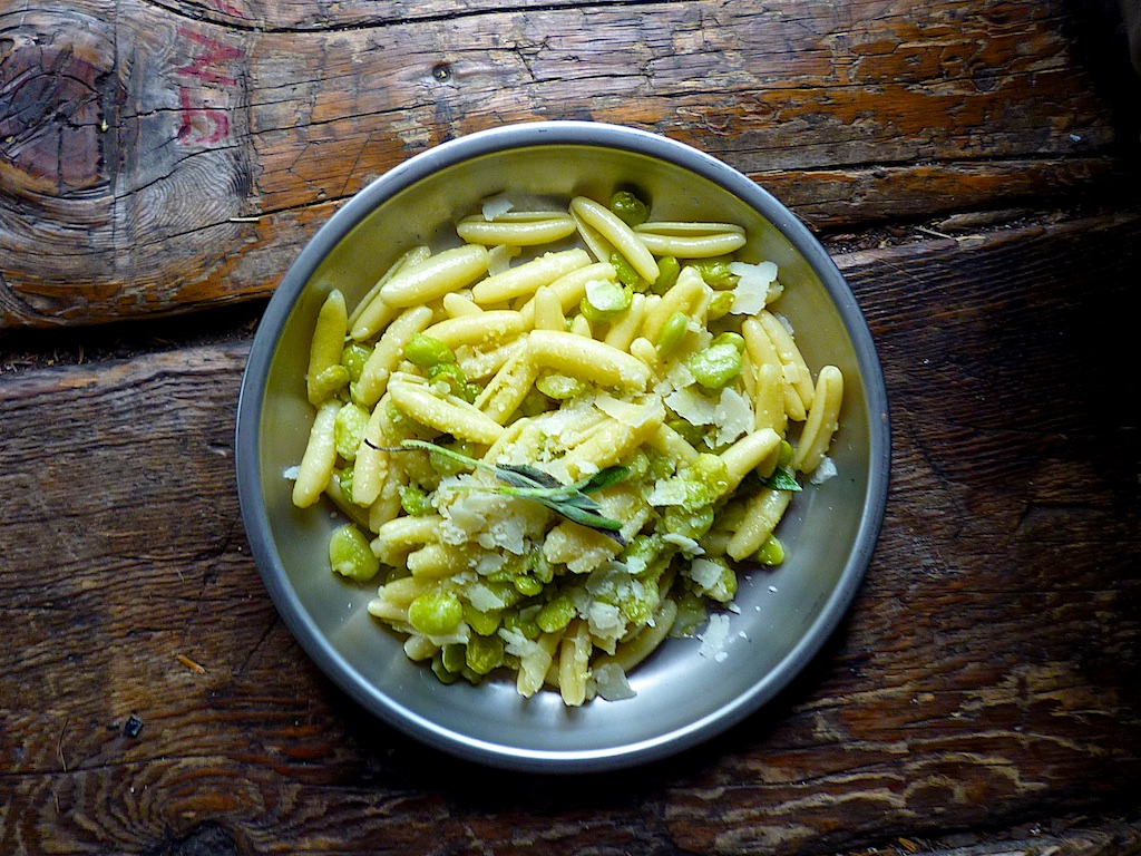 Cavatelli and fava beans