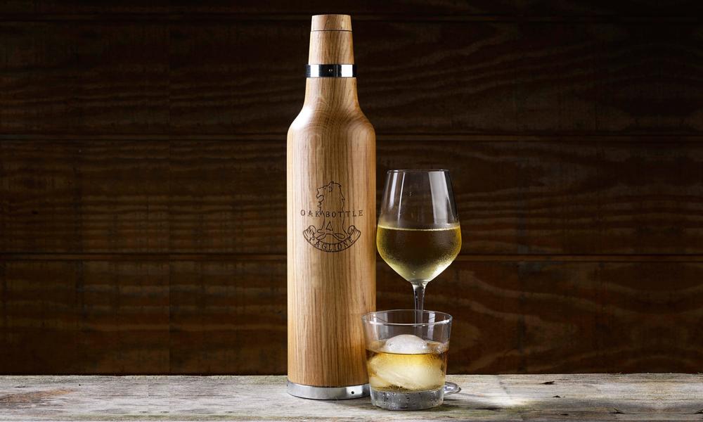 oak wine decanter