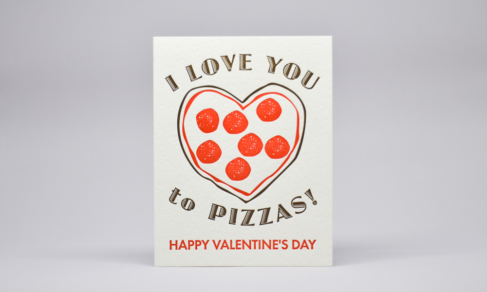 Pizza Valentines Card