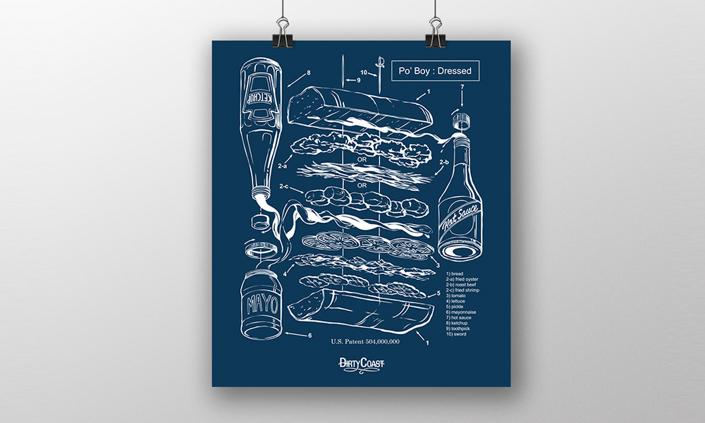 dirty coast poboy poster