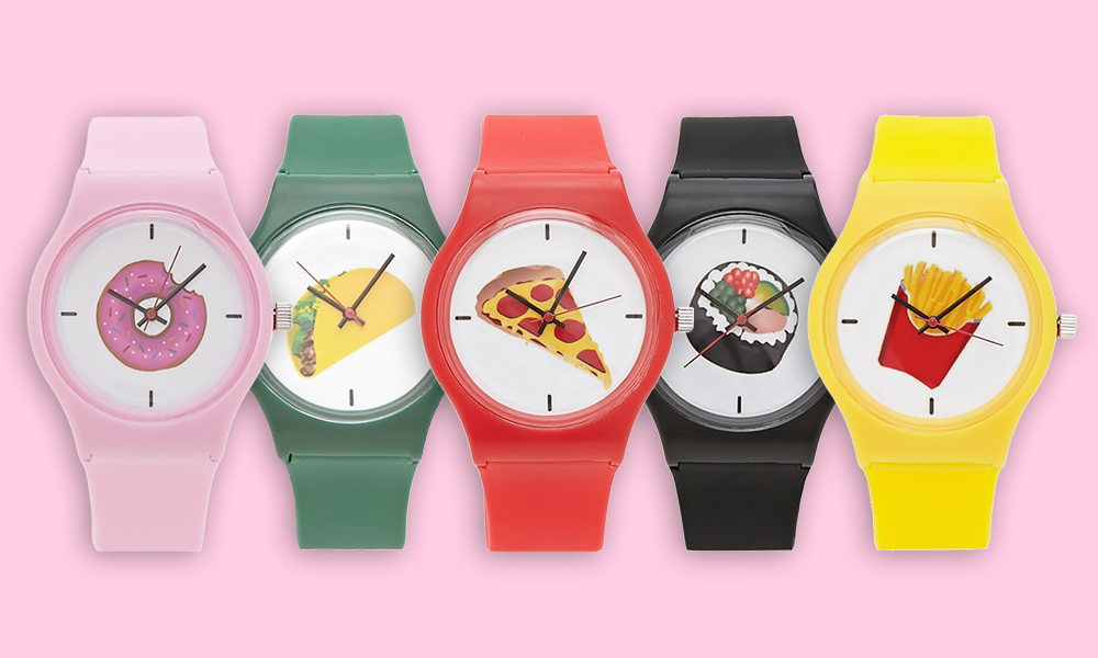 forever21 food wrist watch