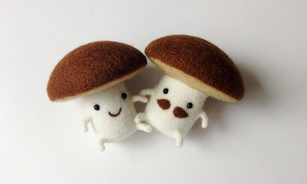 felted-food-friends-mushrooms