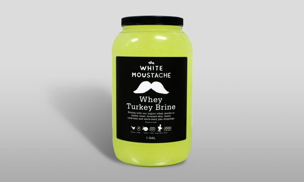 white mustache turkey brine