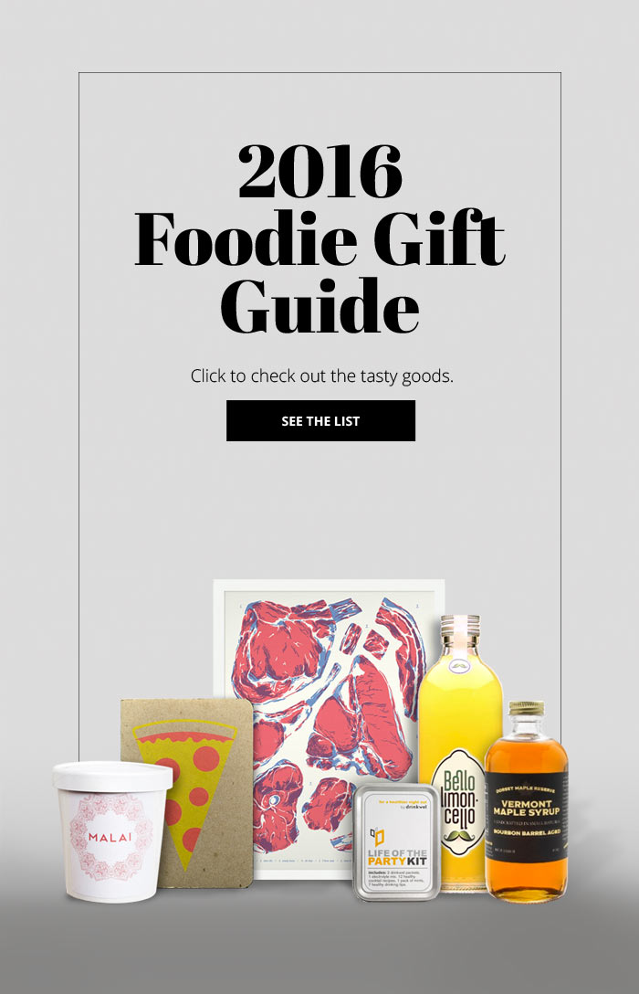 2016 foodie gift guide