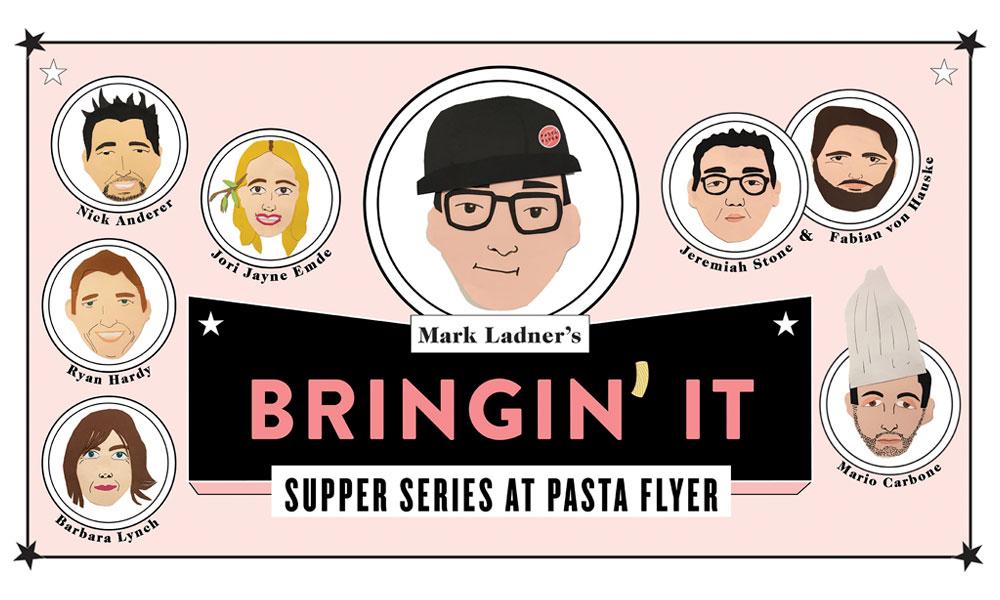 pasta flyer dinner series